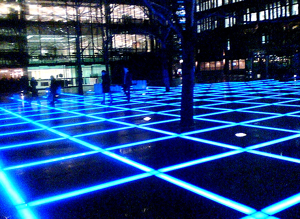Broadgate at night