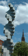 Endlose Treppe by Max Bill, dedicated to the Principle of Hope by Bloch